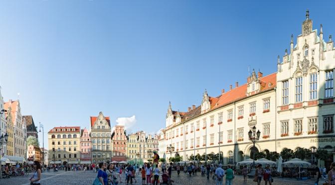 la vella Europa: plaça major de Wroclaw - Polònia