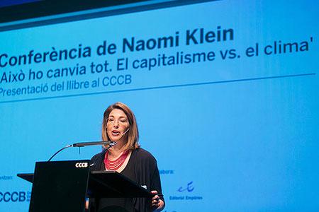 Conferència de Naomi Klein al CCCB el 27.03.15